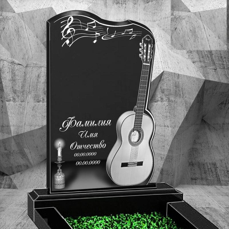 Памятник из гранита - гитара-2