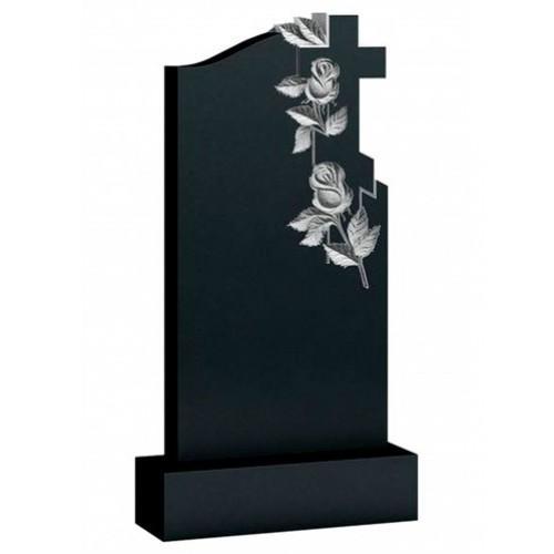 Памятник из гранита - с розами и крестом - Р5