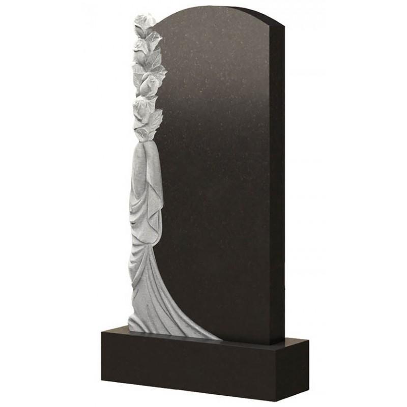 Памятник из гранита - с розой и плащаницей -Р10