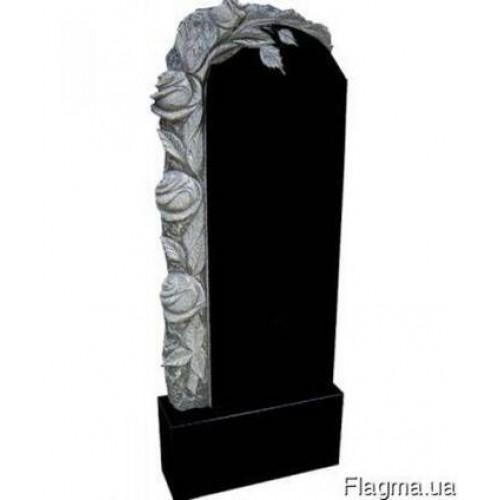 Памятник из гранита - с розами - Р18