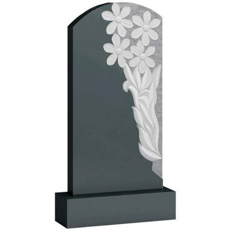 Памятник из гранита - цветы мемориал A413
