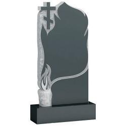 Памятник из гранита - крест и свеча мемориал A721