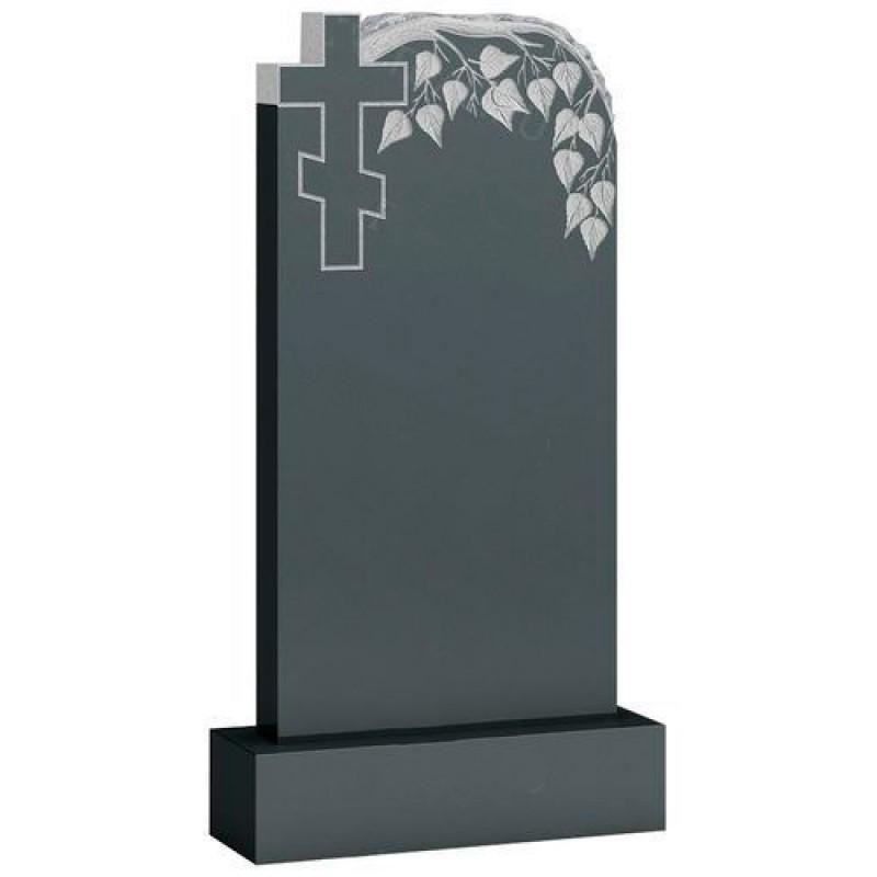 Памятник из гранита - крест и веточка мемориал A843