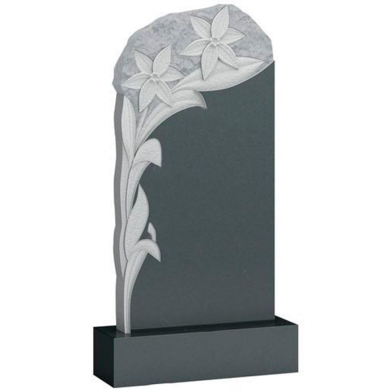Памятник из гранита - цветы мемориал A133