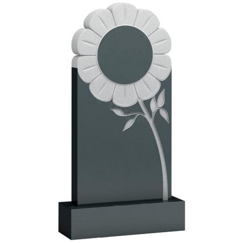 Памятник из гранита - цветок мемориал A925